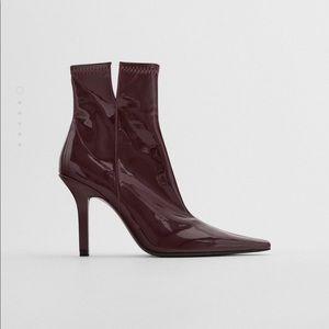 Zara Patent Heeled Boots